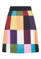 HOUSE OF HOLLAND PATCHWORK A LINE SKIRT   multicoloured patch print skirts