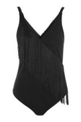 WYLDR Persia Black With Black Fringe Bodysuit. FRINGED BODYSUITS