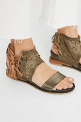Petrona Wedge Sandal. TASSELED WEDGES
