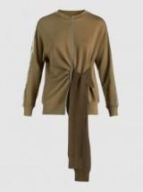 3.1 PHILLIP LIM Tie-Front Cotton Sweatshirt – stylish casual tops