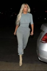 Kim Kardashian casual style dressed in Yeezy gear