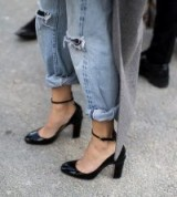 French style…heels with rolled up denim