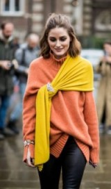 Olivia Palermo looks chic in this dressed up two piece knitwear combo