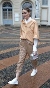 Olivia Palermo street style during Fashion Week in Milan, February 2018. Celebrity outfits | star fashion