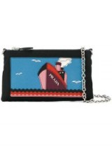 PRADA Saffiano boat patch chain wallet / small wallets/bags