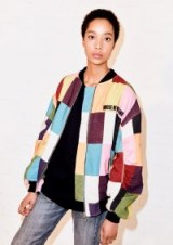 HOUSE OF HOLLAND PRINTED PATCHWORK BOMBER JACKET | multi-coloured zipper jackets