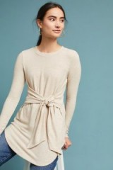 Pure + Good Providence Tunic Top | neutral tie front tunics