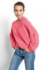 hush Puff Sleeve Sweat Top ~ guava-pink sweatshirts ~ casual style
