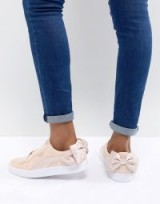 Puma Suede Bow Valentines Trainers In Pink | sports luxe footwear | cute sneakers