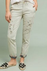 Chino by Anthropologie – Relaxed Patched Chino Pants | distressed chinos