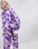 Rip N Dip Oversized Hoodie & Trousers Co-Ord In Camo – purple and lilac camouflage printed hoodies and pants