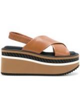 ROBERT CLERGERIE Omin flatform sandals / chunky slingback flatforms