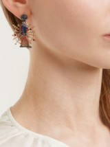 FRANCESCA VILLA Rose-gold, sapphire toy soldier earrings ~ gemstone statement jewellery