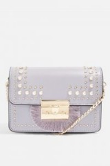 topshop Rosie Pearl Fringe Cross Body Bag. SMALL LILAC CHAIN STRAP BAGS