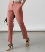 REISS ROZA TROUSER SLIM-LEG TROUSERS ROSE PINK
