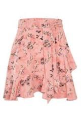 Topshop Ruffle Tie Mini Skirt   pink wrap style skirts