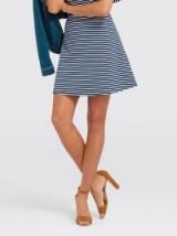 DRAPER JAMES Sailor Stripe Ponte Skirt   nautical style A-line skirts