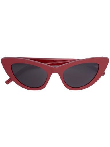 SAINT LAURENT EYEWEAR New Wave 213 Lily sunglasses / red retro eyewear / vintage inspired summer accessories