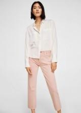 Mango Sayana straight jeans – pink denim