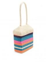 SOPHIE ANDERSON Serella woven multicoloured toquilla-straw box bag.