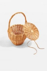 topshop Shelly Straw Basket Bag. CUTE TOP HANDLE BAGS