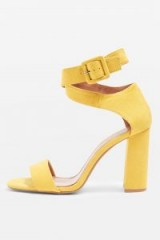 TOPSHOP Sinitta Crossover Sandals / yellow ankle strap shoes