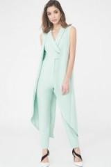 LAVISH ALICE Sleeveless Waistcoat Jumpsuit – pastel green jumpsuits