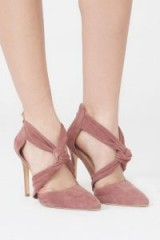 LAVISH ALICE Suede Knot Detail Stiletto in Pink