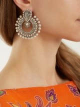 ETRO Taj Mahal faux-pearl embellished earrings ~ statement jewellery