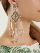 ETRO Teardrop clip-on earrings ~ large statement jewellery