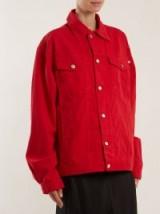 KATHARINE HAMNETT Ted oversized red denim jacket