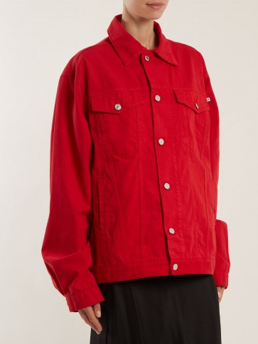 KATHARINE HAMNETT Ted oversized red denim jacket