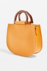 Topshop Trilly Wood Handle Tote Bag