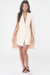 LAVISH ALICE Tuxedo Split Back Cape Dress – pastel hue dresses