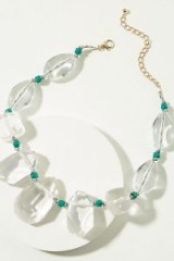 ANTHROPOLOGIE Unna Pebble Necklace | clear stone statement necklaces