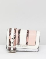 Valentino by Mario Valentino Blush Faux Snake Cross Body Bag