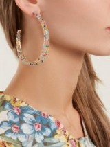 ROSANTICA BY MICHELA PANERO Velo bead-embellished hoop earrings ~ large multicoloured hoops