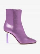 Vetements Metallic-Purple Lighter Heel Ankle Boots
