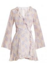 ATHENA PROCOPIOU Violet's Whisper silk wrap dress – lilac-purple floral prints