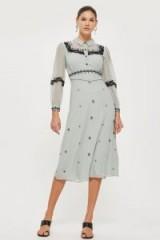 TOPSHOP Western Trim Midi Dress – vintage style dresses