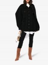 Y / Project Oversized Shoulder Panel Denim Jacket ~ casual black jackets