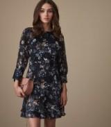 Reiss ALBERTA FLORAL-PRINTED DRESS