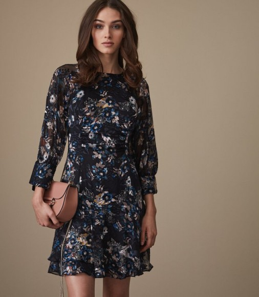 Reiss ALBERTA FLORAL-PRINTED DRESS