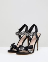 ALDO Two Part Heeled Sandal with Embellishment and Bow Detail – party heels