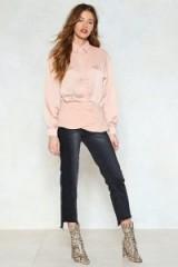 NASTY GAL American Girl Contrast Shirt. NUDE SHIRTS