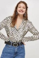 Topshop Animal Print Shirt – silky shirts