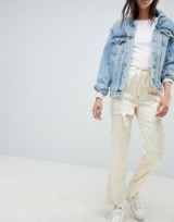 ASOS DESIGN Cream Satin Combat Trousers