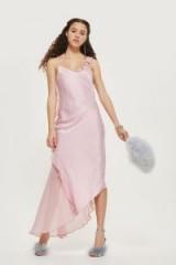 topshop Satin Fishtail Gown Dress ~ lilac vintage style evening dresses