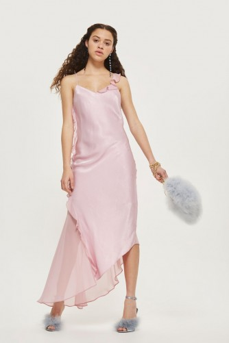 topshop Satin Fishtail Gown Dress ~ lilac vintage style evening dresses