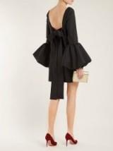 VALENTINO Bell-sleeve silk-crepe dress ~ lbd ~ event glamour